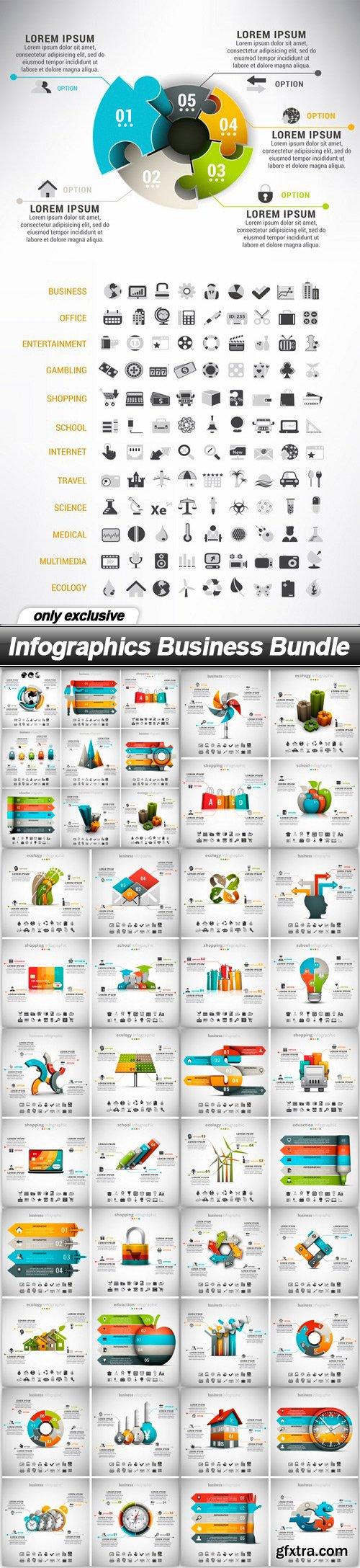 Infographics Business Bundle - 11 EPS