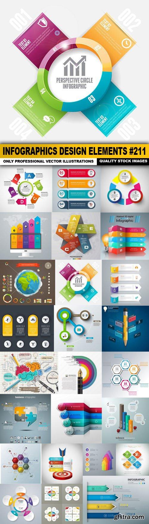 Infographics Design Elements #211 - 25 Vector