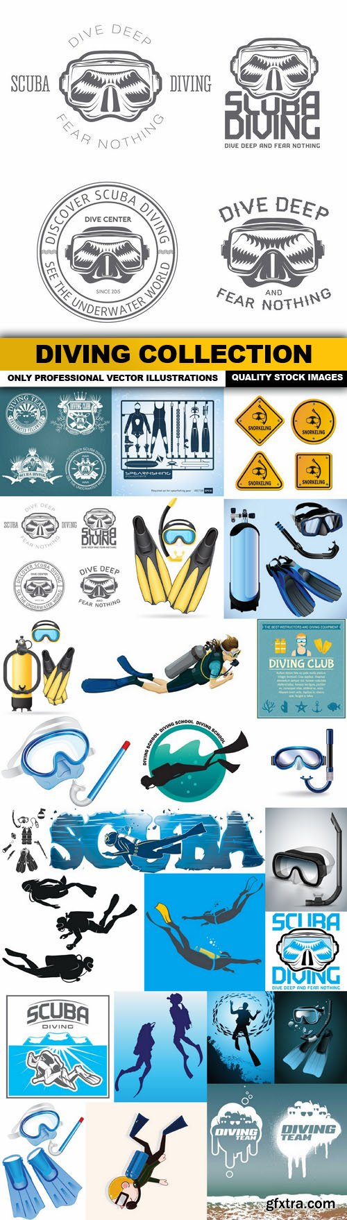 Diving Collection - 25 Vector