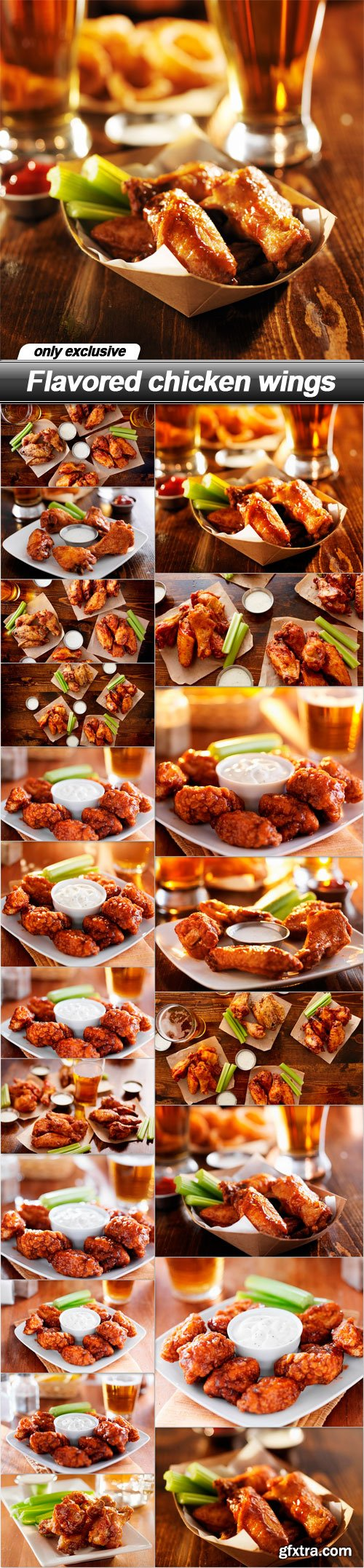 Flavored chicken wings - 20 UHQ JPEG