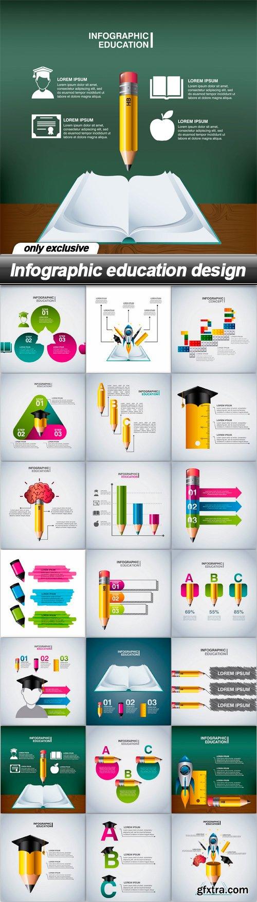 Infographic education design - 21 EPS