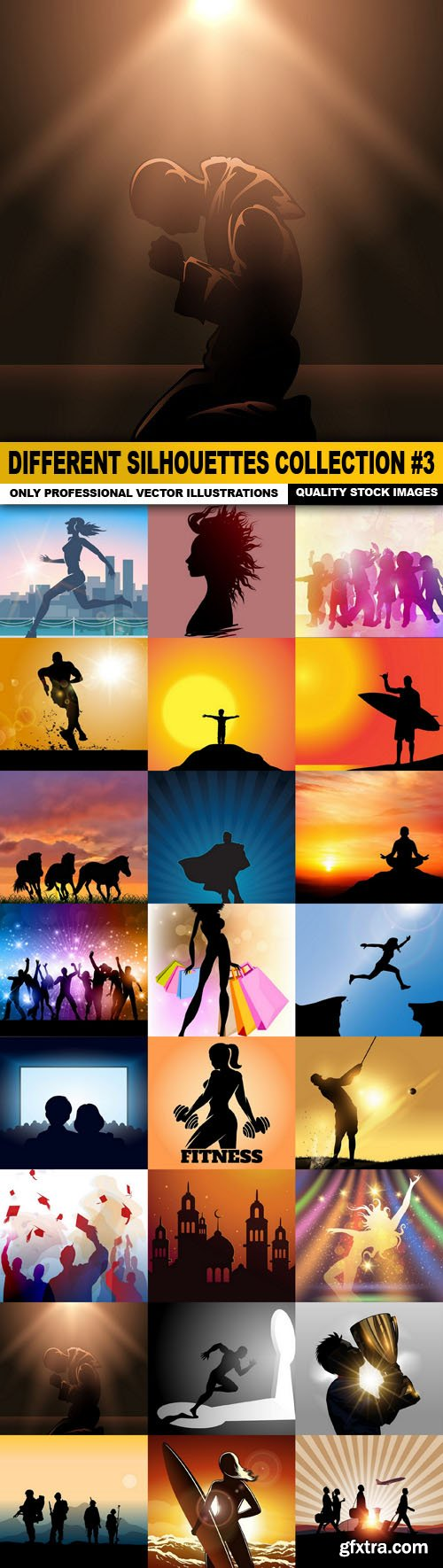 Different Silhouettes Collection #3 - 25 Vector