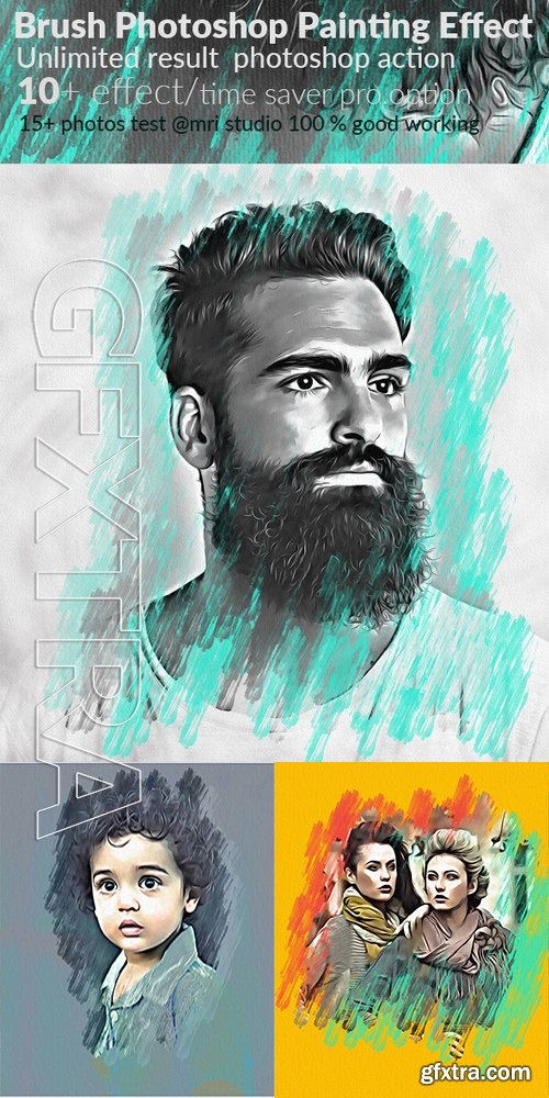 GraphicRiver - Oil Painting Photoshop Effect 17108342