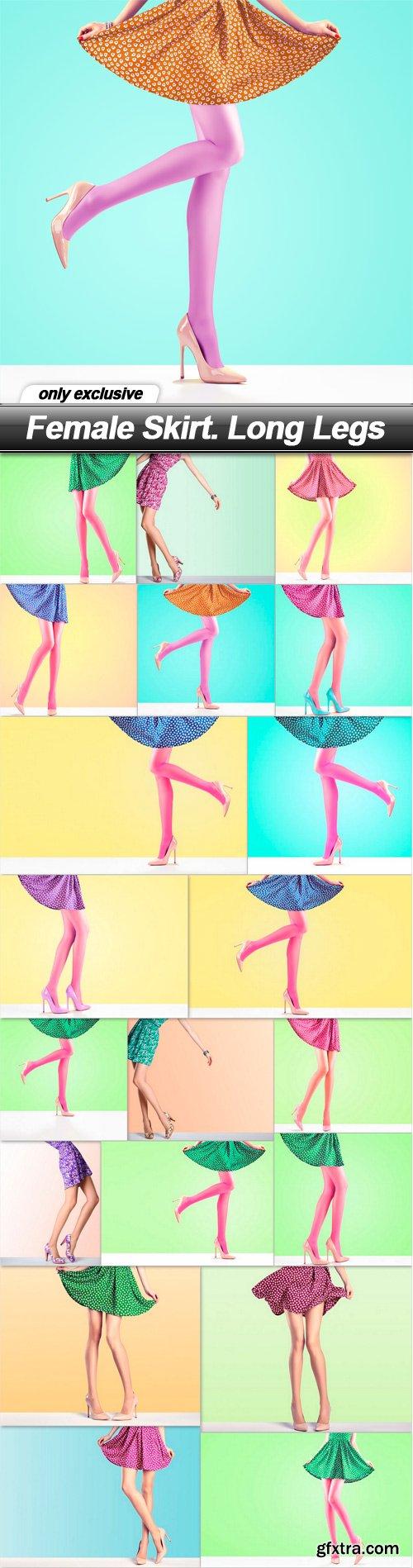 Female Skirt. Long Legs - 20 UHQ JPEG