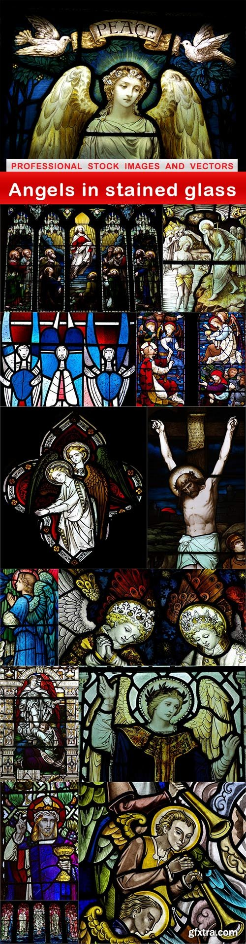 Angels in stained glass - 14 UHQ JPEG