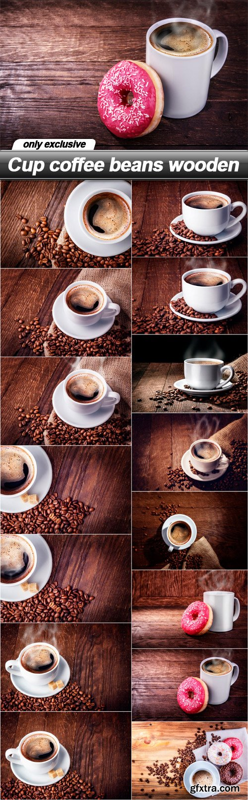 Cup coffee beans wooden - 15 UHQ JPEG
