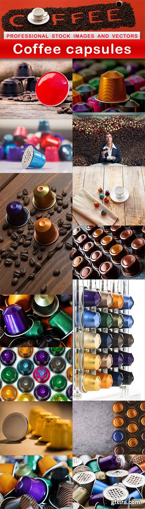 Coffee capsules - 15 UHQ JPEG
