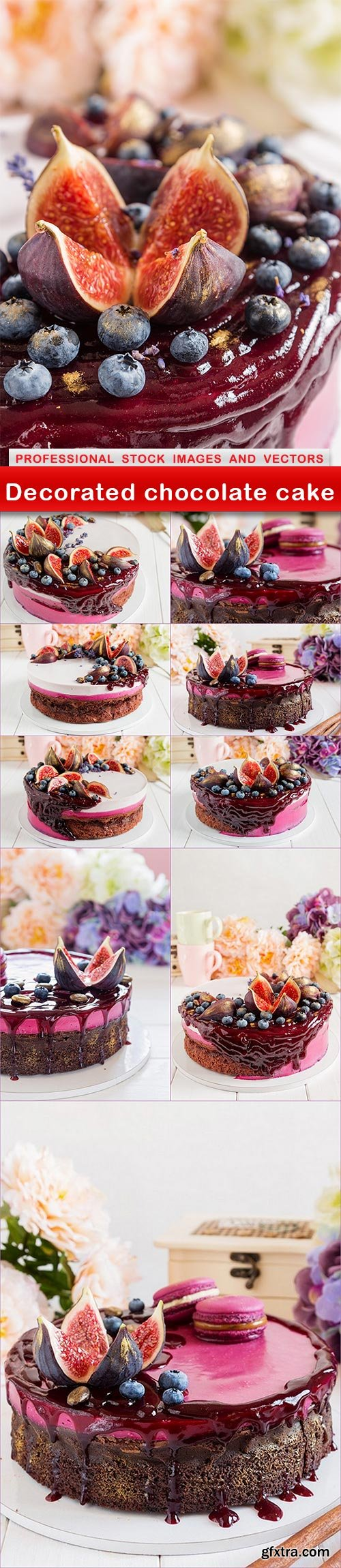 Decorated chocolate cake - 10 UHQ JPEG