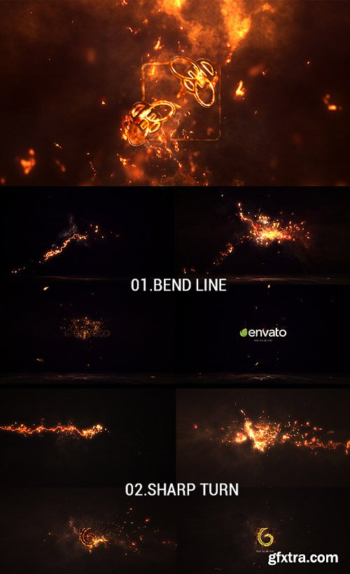 Videohive - Logo Reveal Pack 5in1: Fire - 16994274