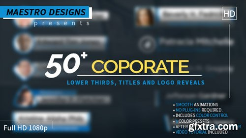 Videohive - Coporate Lower Thirds Titles And Logos Pack - 17002235