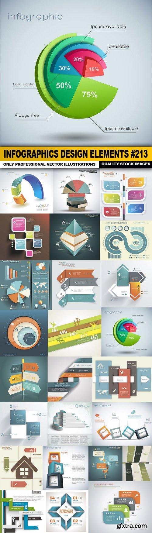 Infographics Design Elements #213 - 25 Vector