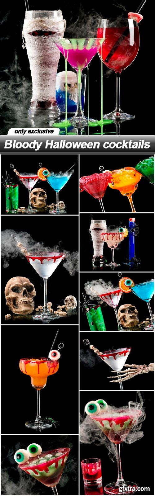 Bloody Halloween cocktails - 10 UHQ JPEG