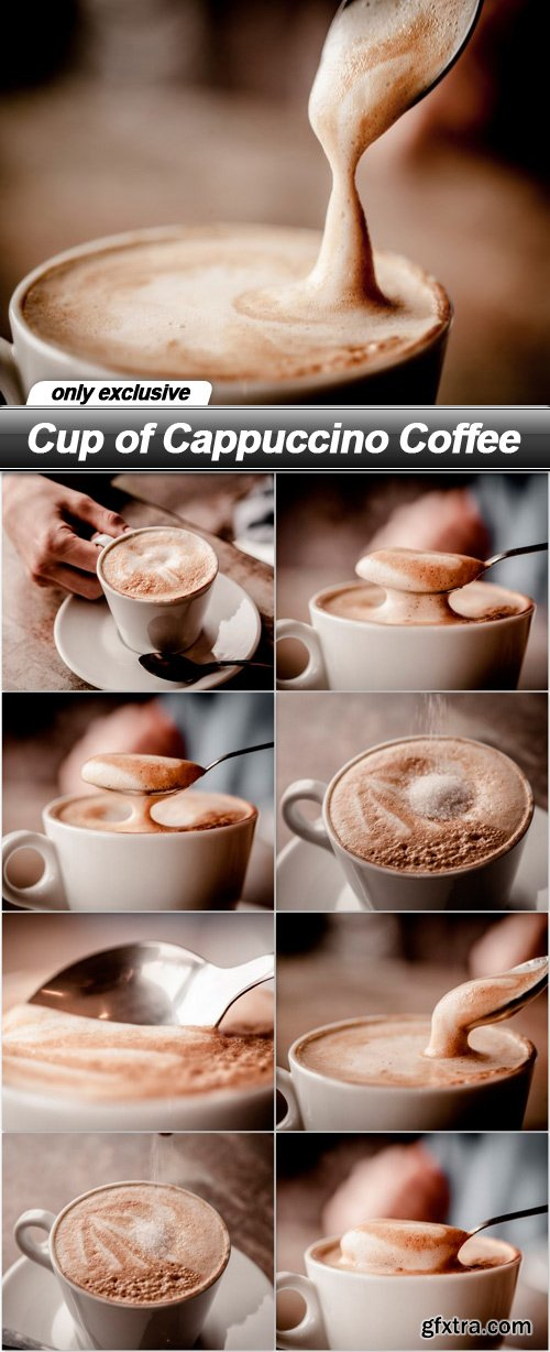 Cup of Cappuccino Coffee - 9 UHQ JPEG