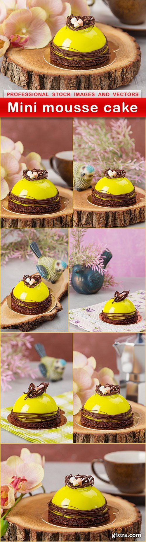 Mini mousse cake - 8 UHQ JPEG