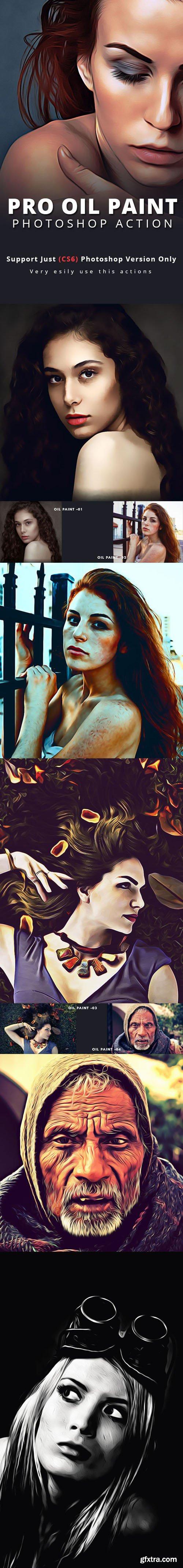 Pro Oil Paint Photoshop Action 17300770