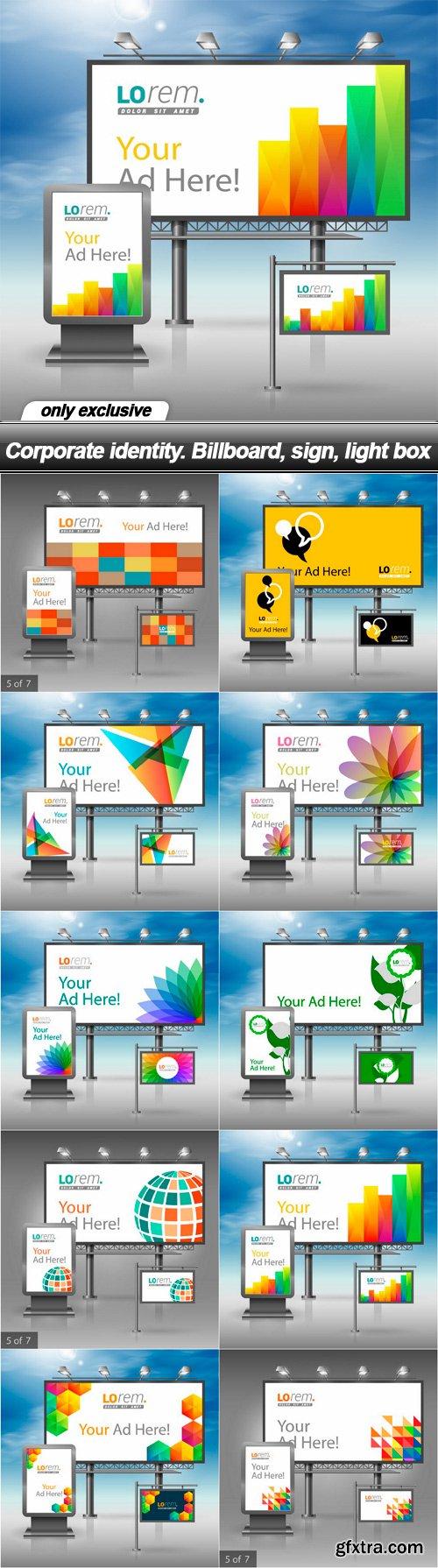 Corporate identity. Billboard, sign, light box - 10 EPS