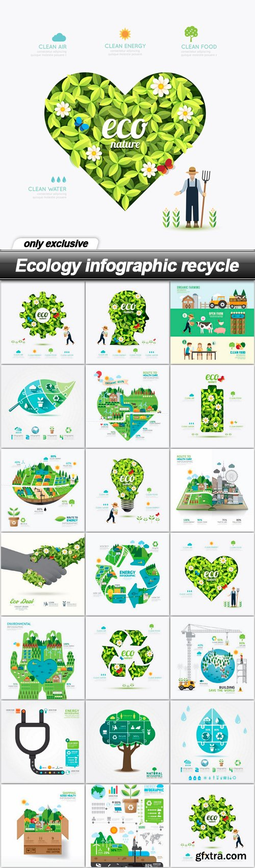 Ecology infographic recycle - 20 EPS