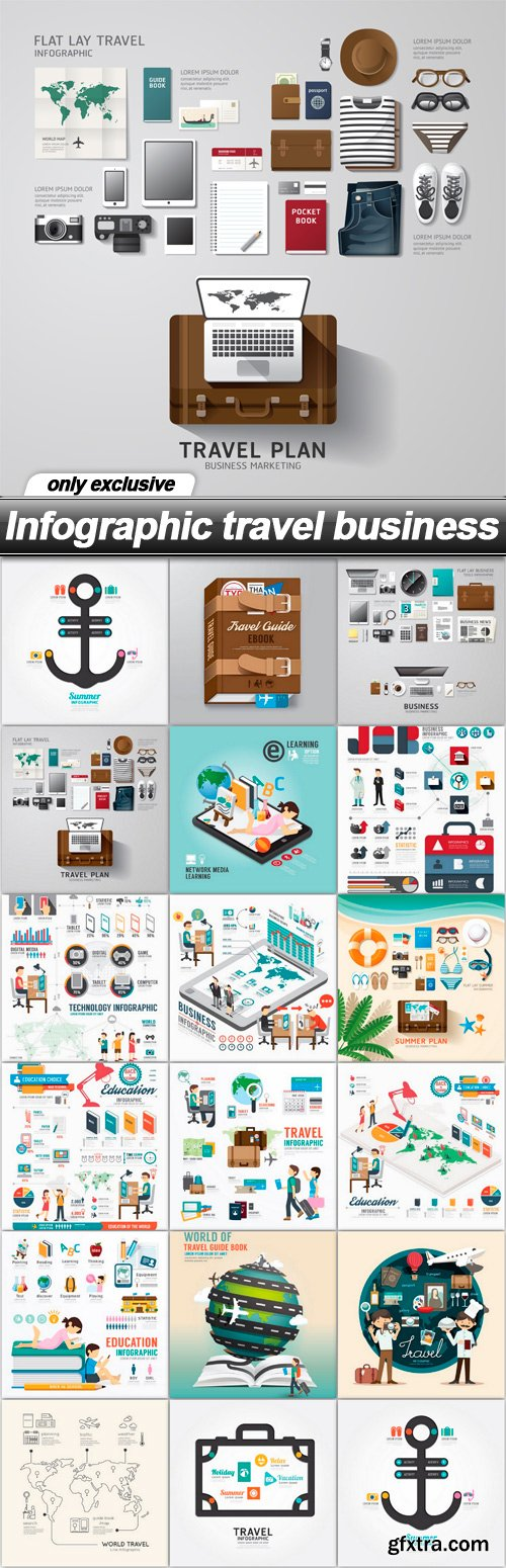 Infographic travel business - 17 EPS