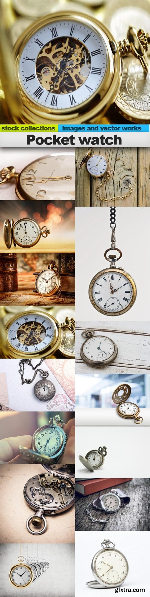 Pocket watch, 15 x UHQ JPEG