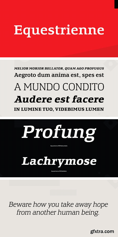 Equestrienne Font Family