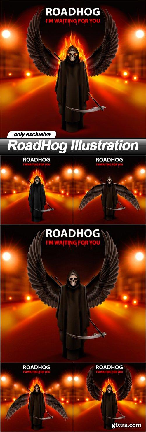 RoadHog Illustration - 5 EPS