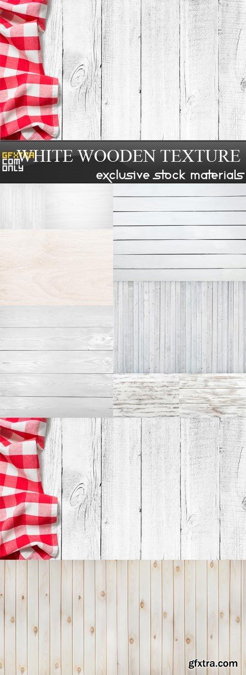 White Wooden Texture - 10 x JPEGs