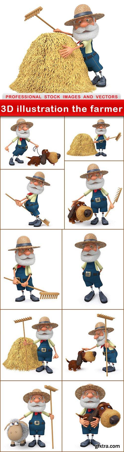 3D illustration the farmer - 11 UHQ JPEG