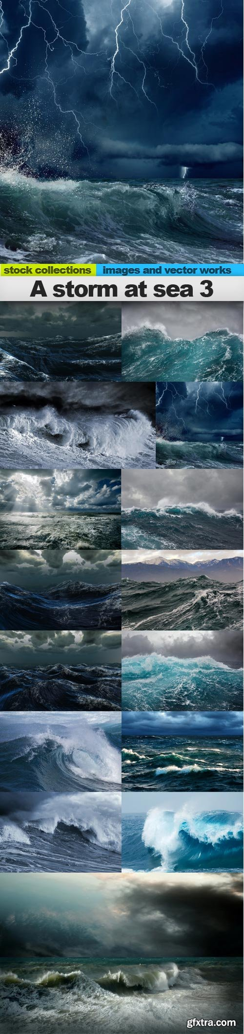 A storm at sea 3, 15 x UHQ JPEG