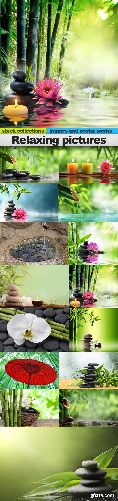 Relaxing pictures, 15 x UHQ JPEG