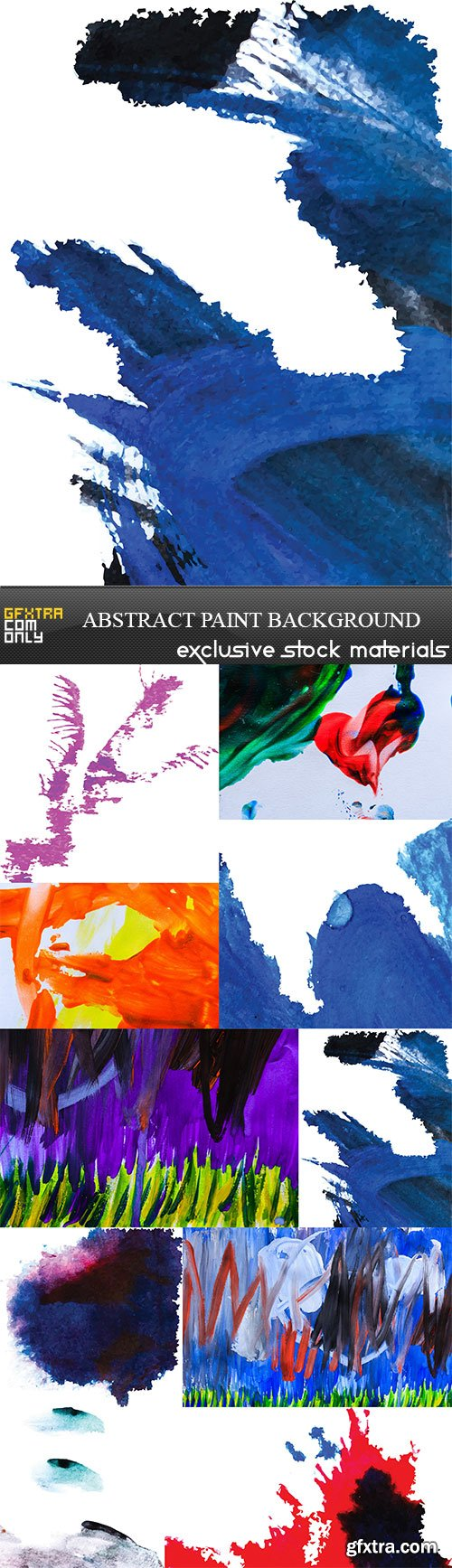 Abstract paint background, 10 x UHQ JPEG