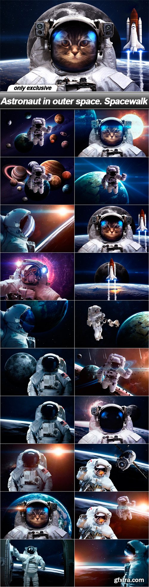 Astronaut in outer space. Spacewalk - 20 UHQ JPEG