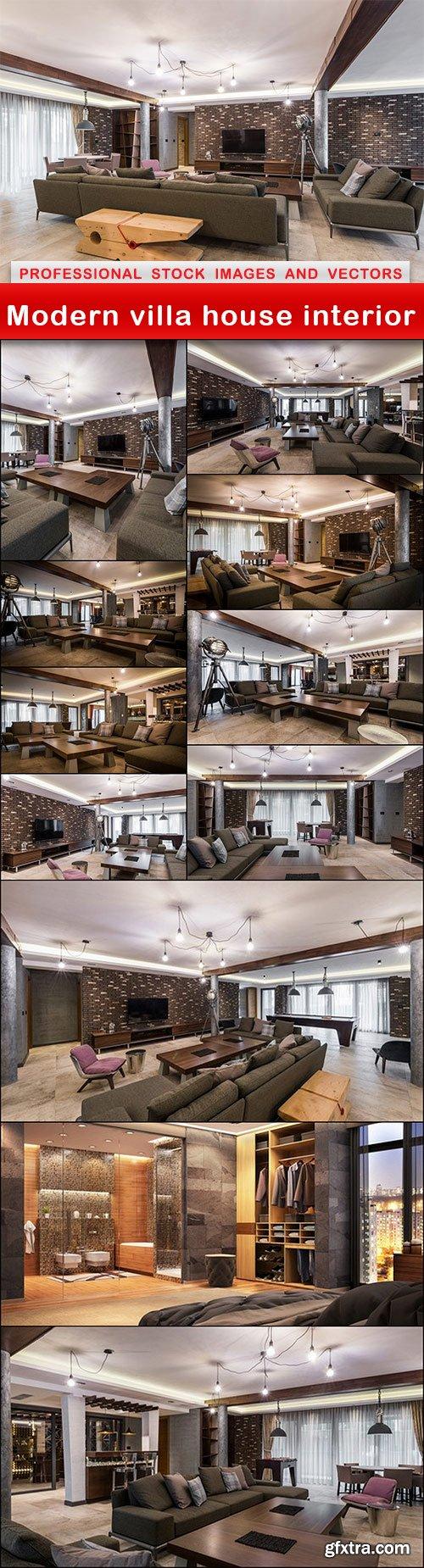 Modern villa house interior - 12 UHQ JPEG