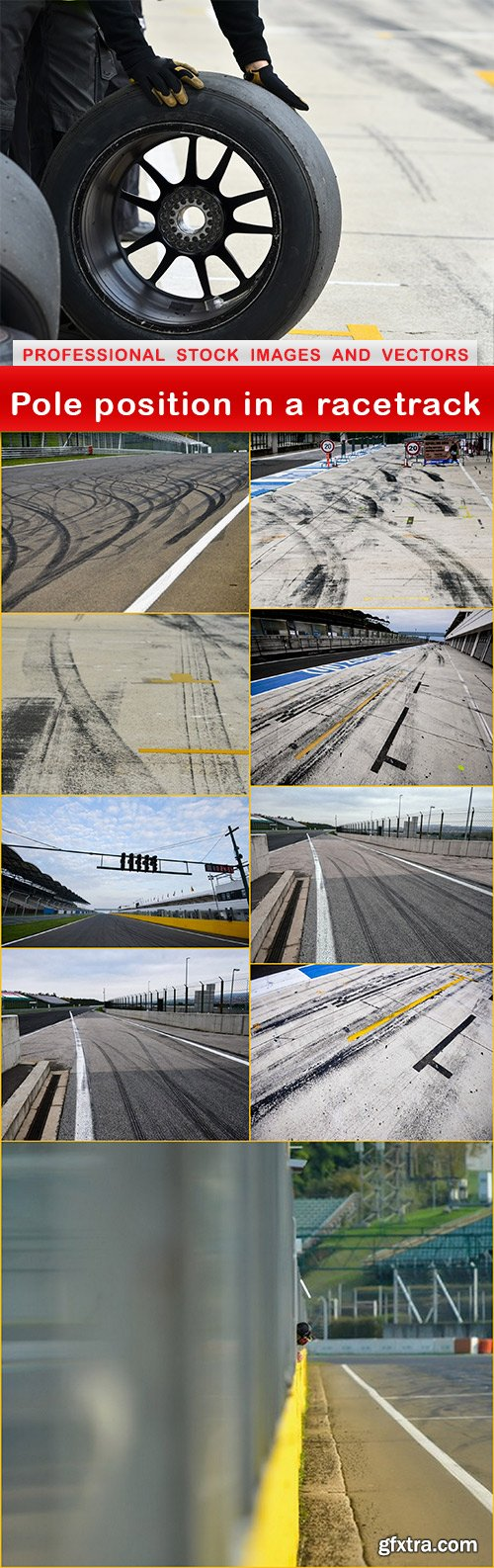 Pole position in a racetrack - 10 UHQ JPEG