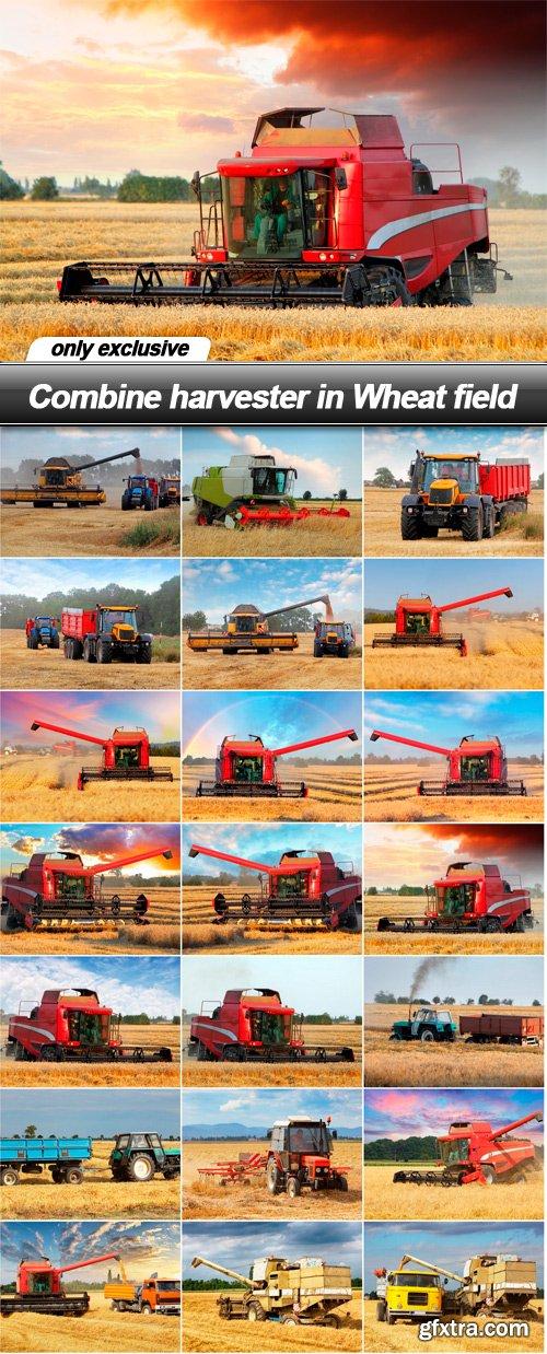 Combine harvester in Wheat field - 21 UHQ JPEG