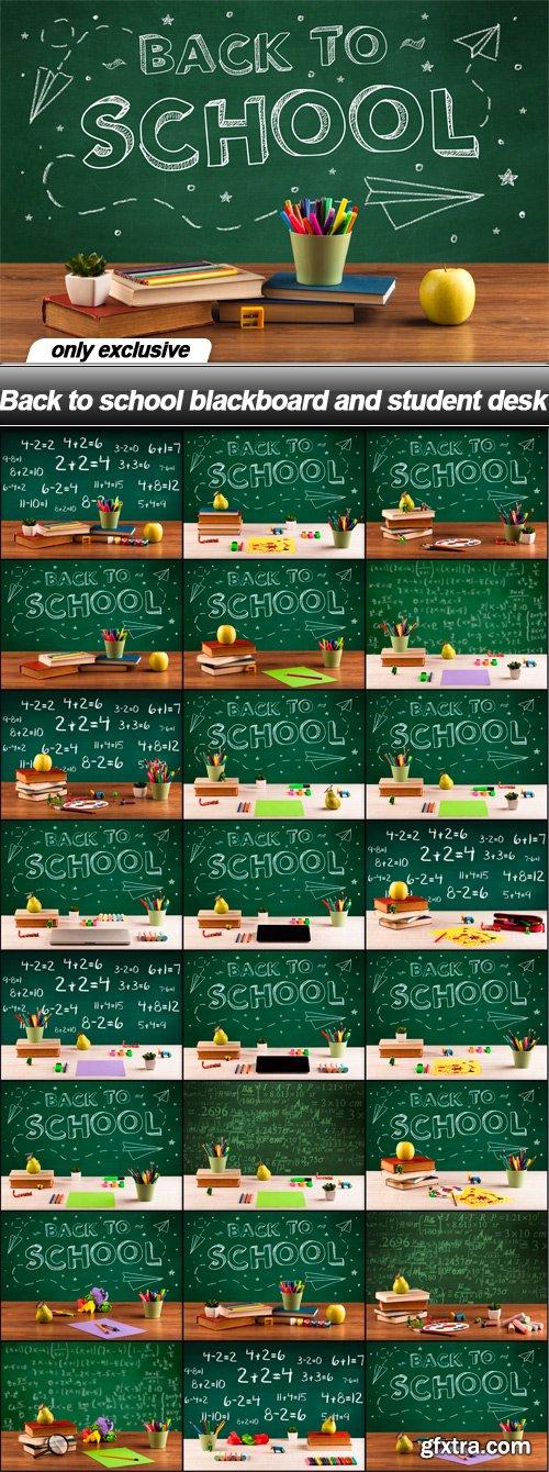 Back to school blackboard and student desk - 25 UHQ JPEG