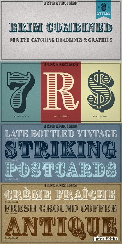 Brim Combined Font Family $25