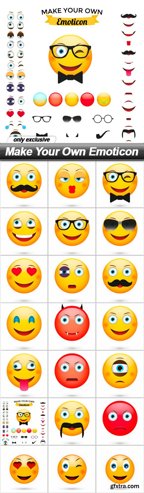 Make Your Own Emoticon - 21 EPS
