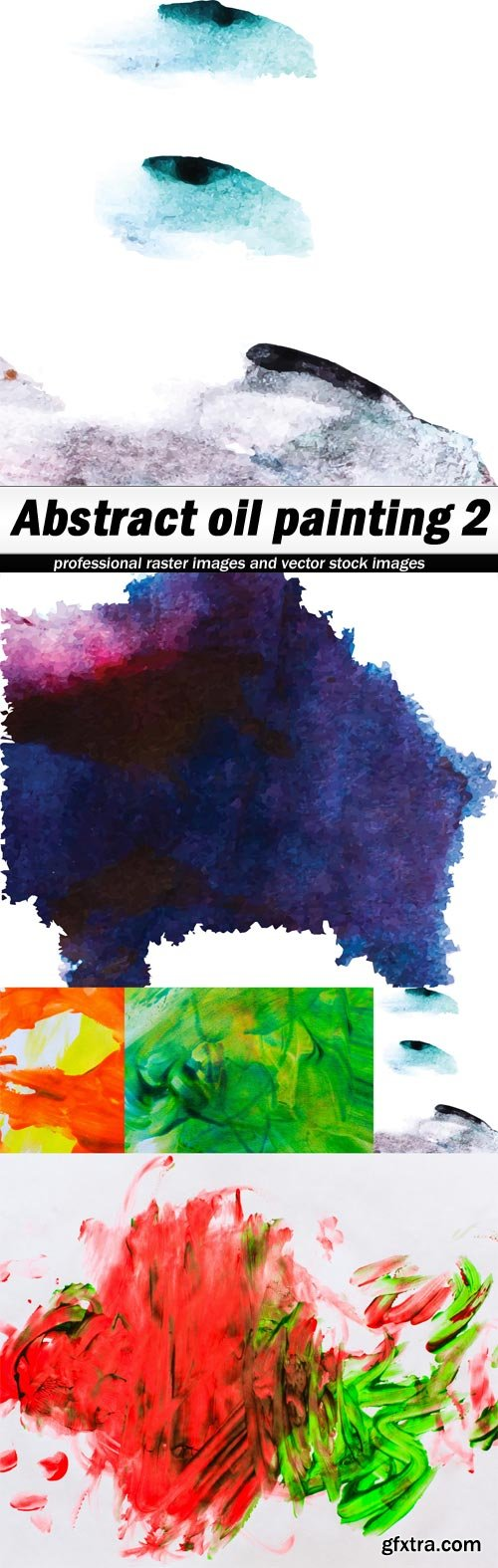 Abstract oil painting 2 - 5 UHQ JPEG