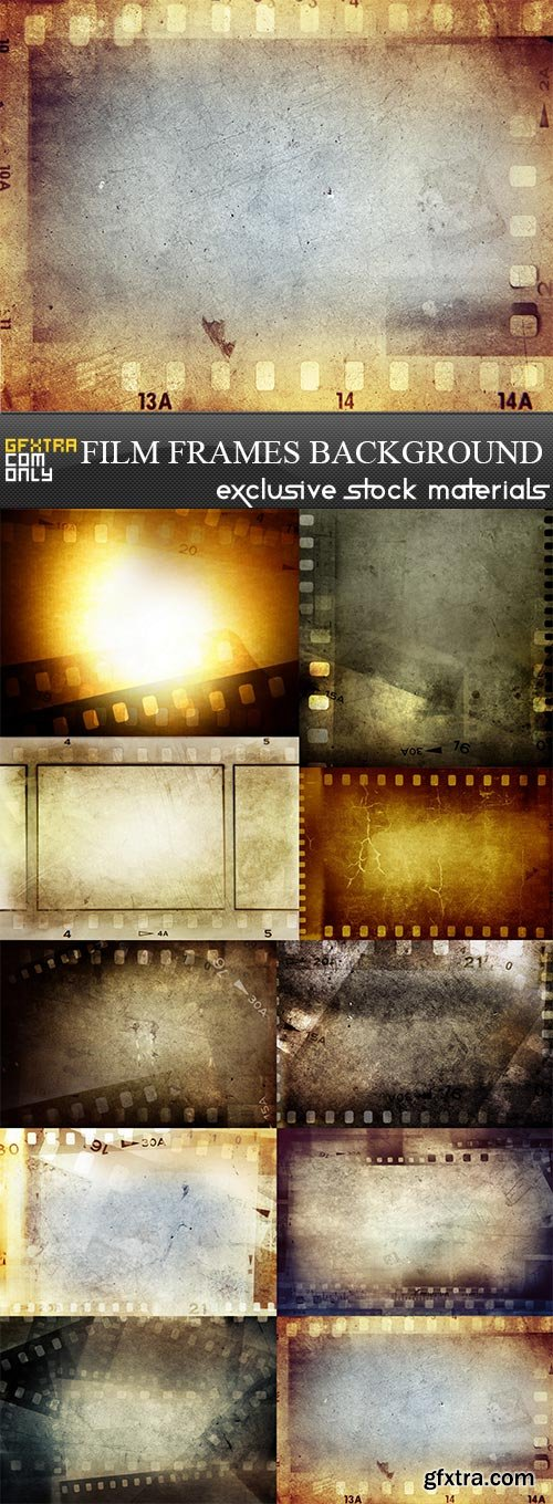 Film frames background, 10 x UHQ JPEG