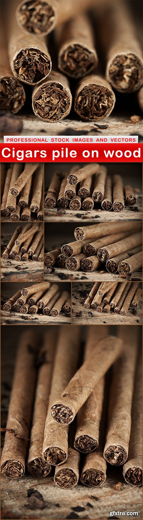 Cigars pile on wood - 8 UHQ JPEG
