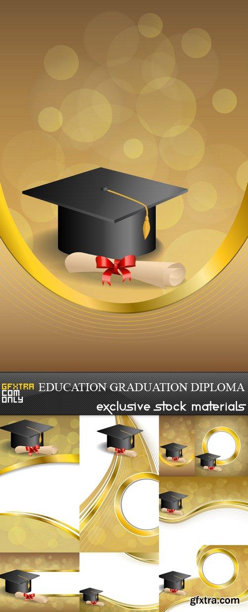 Education Graduation Diploma - 8 EPS