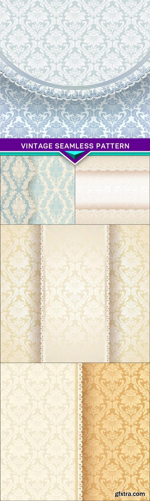 Vintage seamless pattern 5X EPS