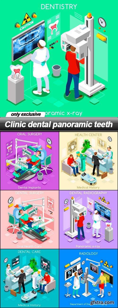 Clinic dental panoramic teeth - 7 EPS