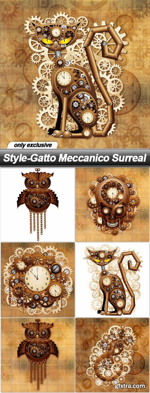 Style-Gatto Meccanico Surreal - 7 UHQ JPEG