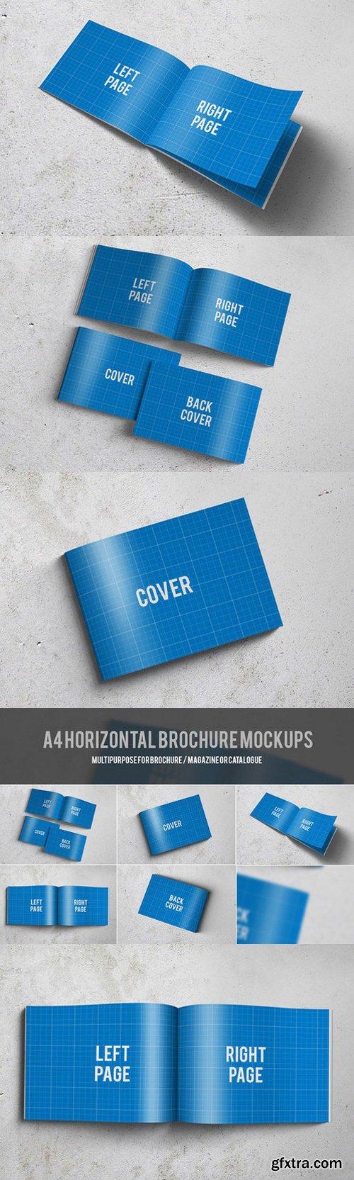 CM - A4 Horizontal Brochure Mockups 181402