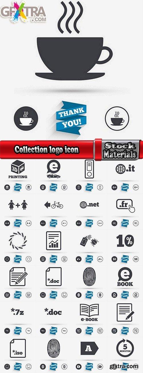 Collection logo icon web design element site  4-25 EPS