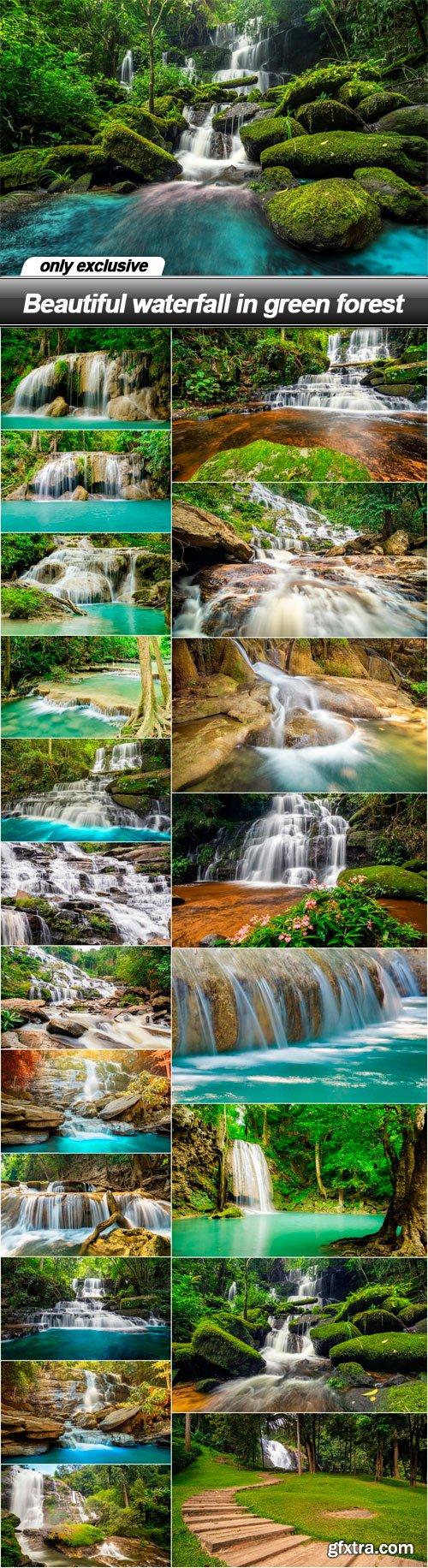 Beautiful waterfall in green forest - 21 UHQ JPEG