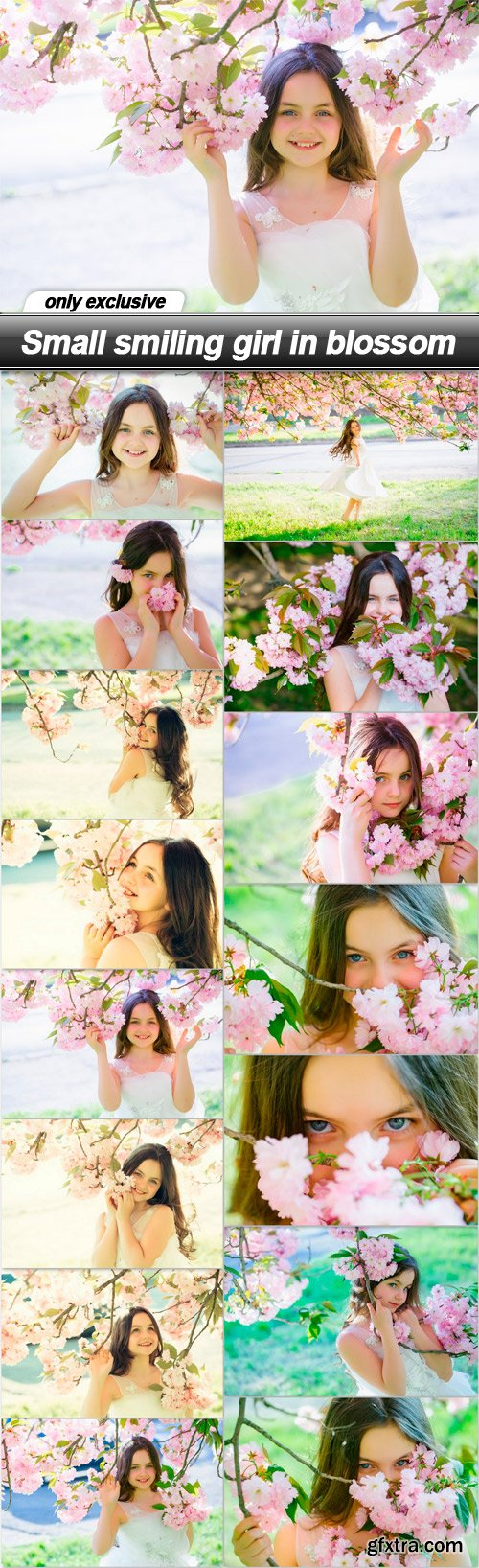 Small smiling girl in blossom - 15 UHQ JPEG