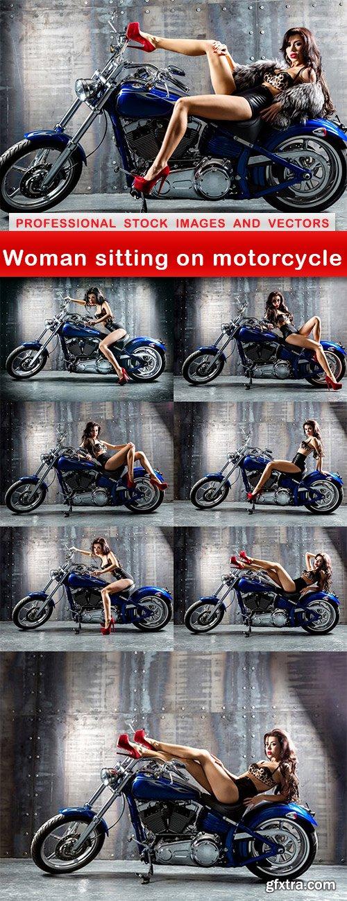 Woman sitting on motorcycle - 8 UHQ JPEG