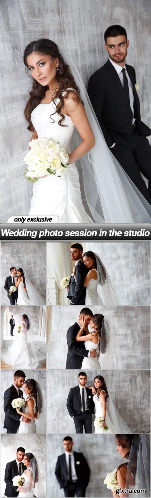 Wedding photo session in the studio - 9 UHQ JPEG